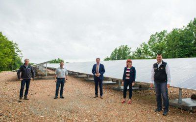 Photovoltaik-Park auf ehemaliger Deponie